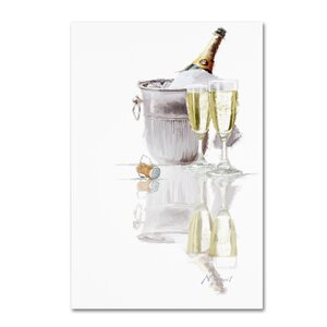 'Champagne' Print on Canvas by Trademark Fine Art