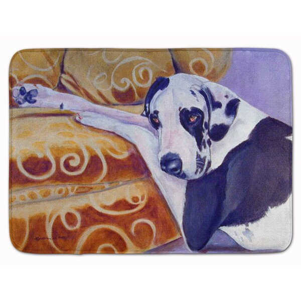 Harlequin Natural Great Dane Rectangle Microfiber Non-Slip Bath Rug