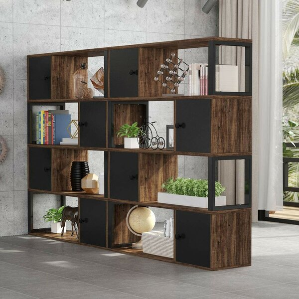 Avoca 4-Tier Library Bookcase by Williston Forge