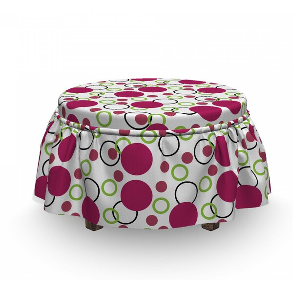 Circles Spots Ottoman Slipcover (Set Of 2) By East Urban Home
