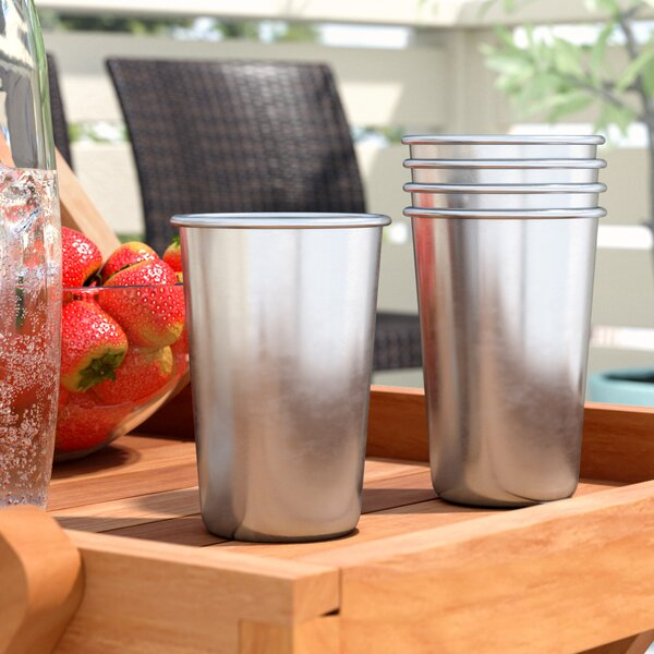 Percy Stainless Steel Indoor/Outdoor Travel 16 oz. Insulated Tumbler (Set of 5) by Mint Pantry