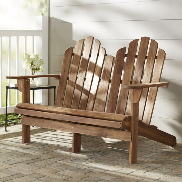 Emmalynn Wooden Garden Bench by Highland Dunes