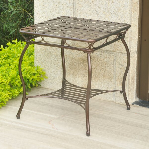 Schilling Metal Side Table by Alcott Hill