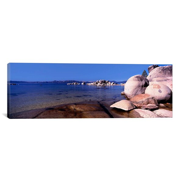Panoramic Boulders at The Coast, Lake Tahoe, California Photographic Print on Canvas by iCanvas