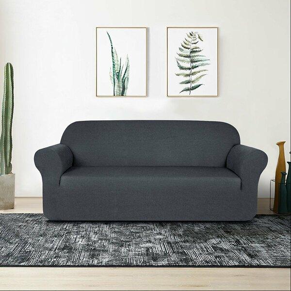 Raised Dots Box Cushion Loveseat Slipcover by Winston Porter