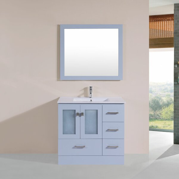 Lapoint 36 Single Modern Bathroom Right Side Cabinet Vanity Set by Latitude Run