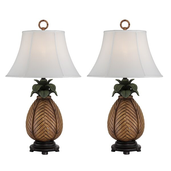 Rich Pineapple 32 Table Lamp (Set of 2) by Bay Isle Home