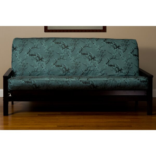 Bryant Cherry Blossom Box Cushion Futon Slipcover by World Menagerie