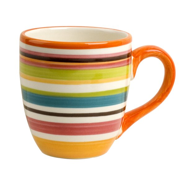 Mellissa Multistriped 14 Oz. Mug (Set of 4) by Zip