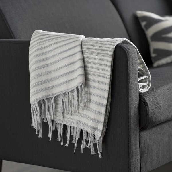 Zenon Cotton Throw Blanket by Mercury Row