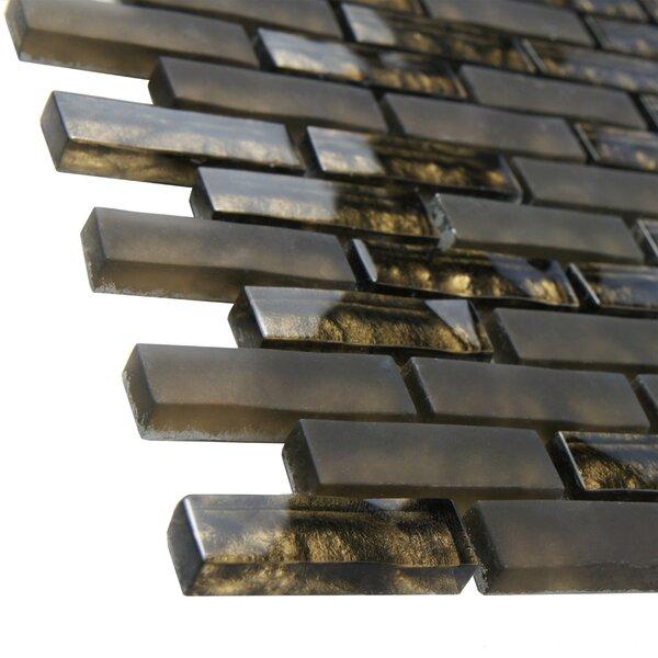 Sierra 0.58'' x 1.88 Glass Mosaic Tile in Brown by EliteTile