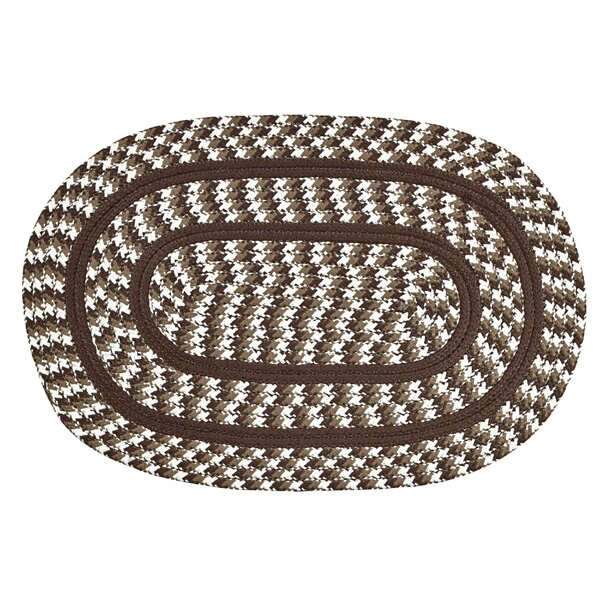 Bayside Braided Brown Indoor/Outdoor Area Rug by August Grove