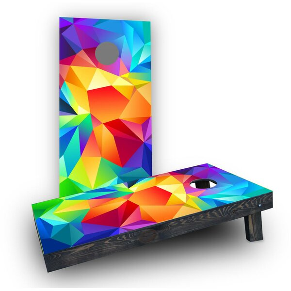 Bright Colored Flipped Prisms Cornhole Boards (Set of 2) by Custom Cornhole Boards