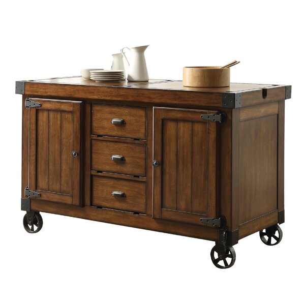 Heritage Kitchen Cart by Loon Peak