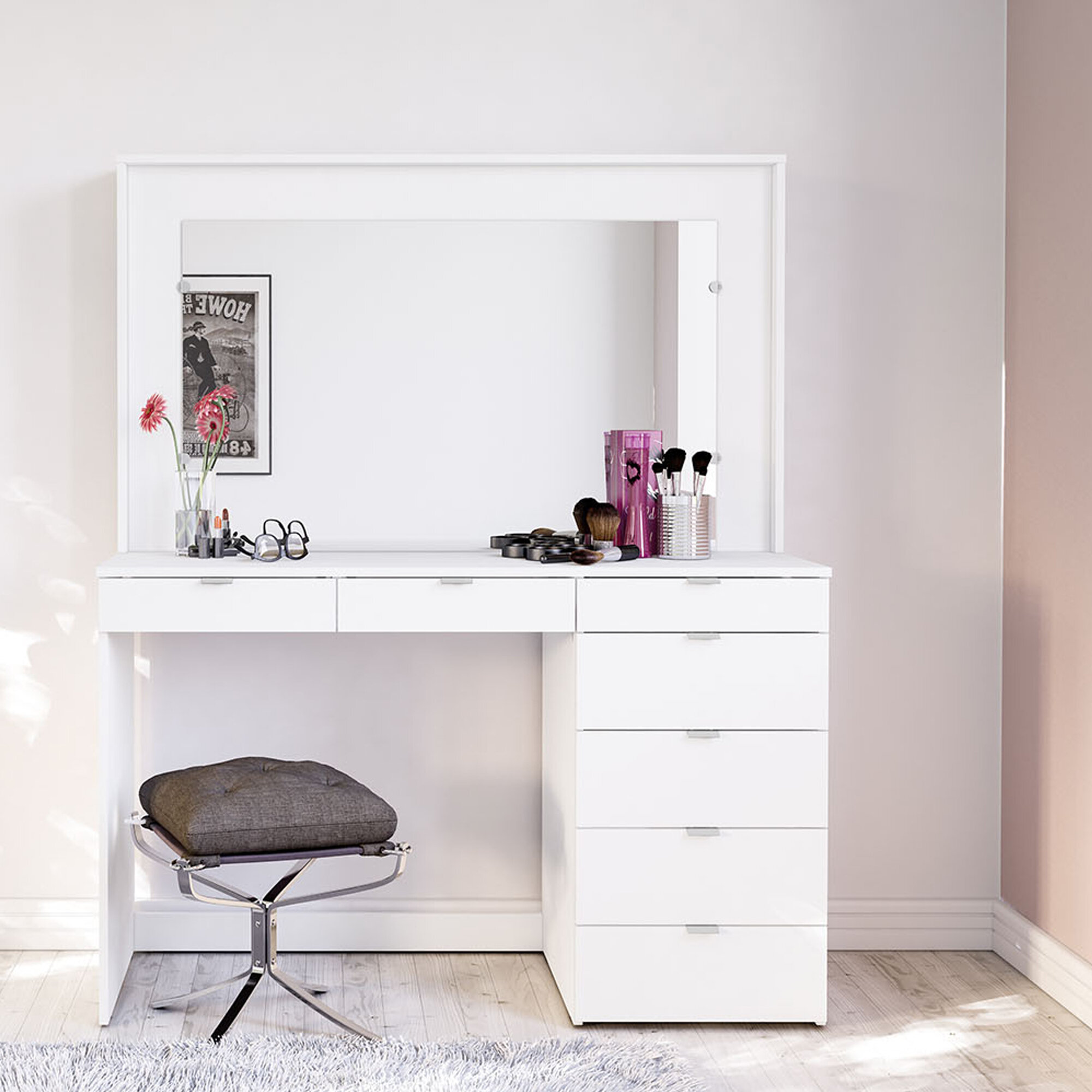 best service 60a22 6ae8a Spurlin Dressing Vanity with Mirror