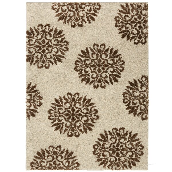 Coney Medallions Cream/Rust Area Rug by The Twillery Co.
