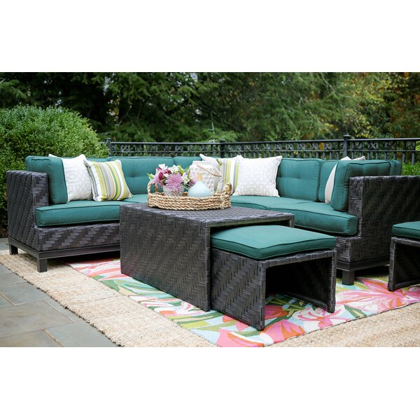 Yara 8 Piece Rattan Sunbrella Sectional Seating Group with Cushions by Mistana