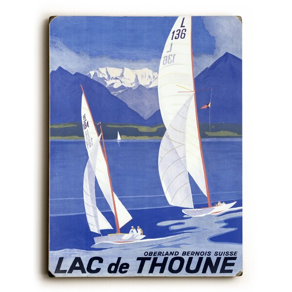 Lac De Thoune Swiss Lake Vintage Advertisement by Artehouse LLC