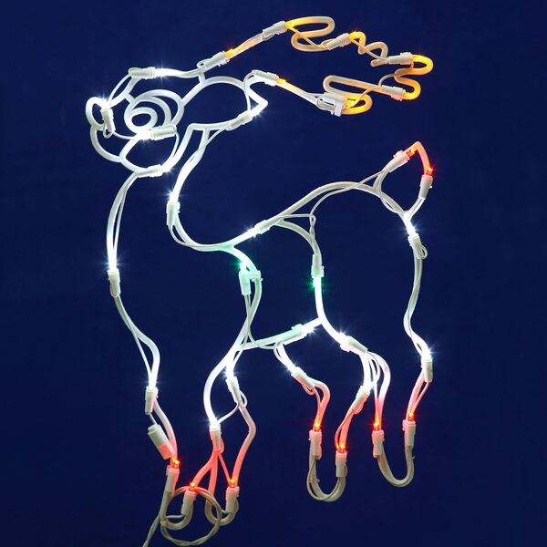 35Lt. Window Decor 35Lt LED Reindeer Window Décor by Vickerman