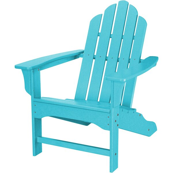 Galaviz Contoured Plastic Adirondack Chair by August Grove