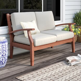 Best Price Brook Hollow Patio Loveseat By Three Posts