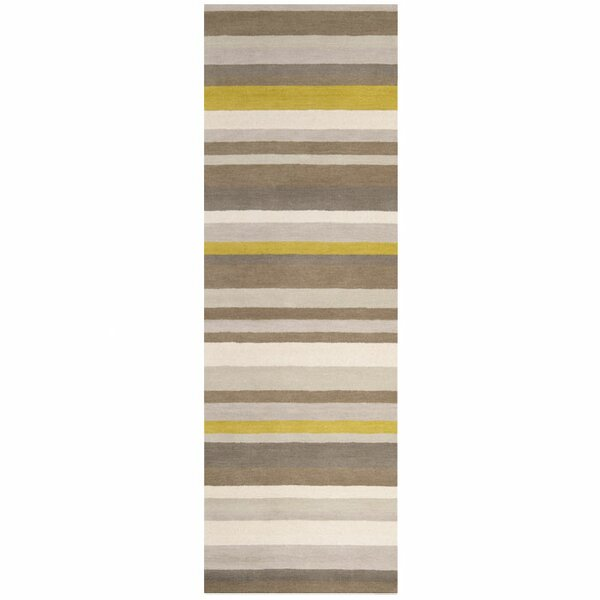 Madison Square Green/Yellow Area Rug by angelo:HOME