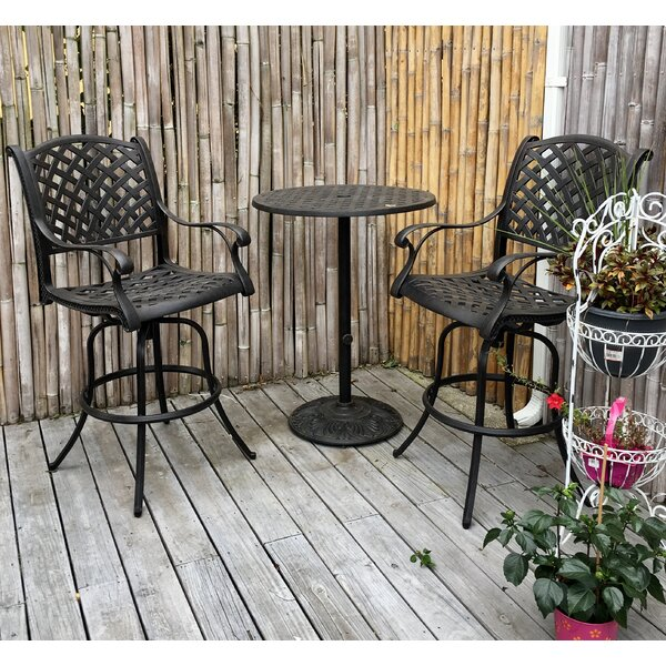 Taya 3 Piece Bar Height Dining Set By August Grove