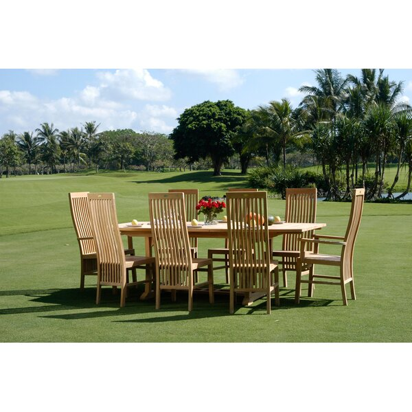 Brenner 9 Piece Teak Dining Set With Cushions By Darby Home Co