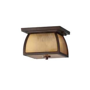 Affordable Price Alhambra 2-Light Outdoor Flush Mount By Loon Peak