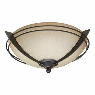 Price comparison 2-Light Bowl Ceiling Fan Light Kit By Quorum