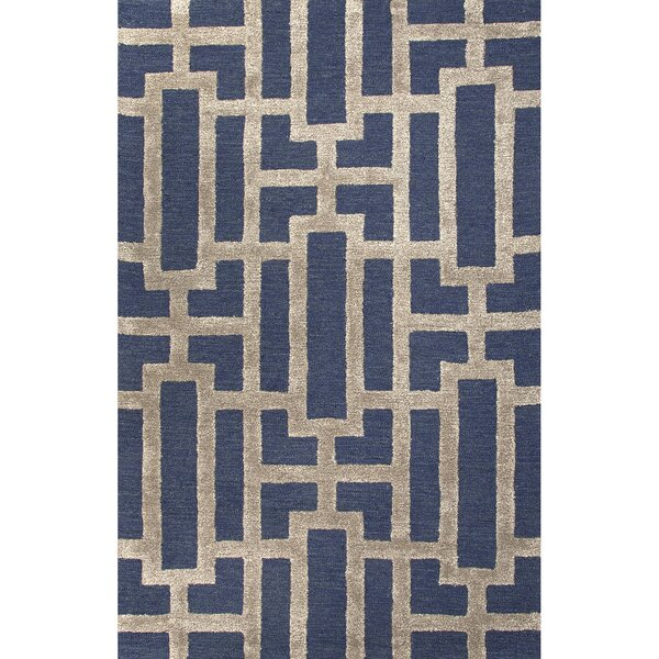 Jagger Hand Tufted Blue/Taupe Area Rug by Mercer41