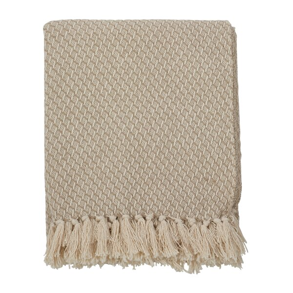 Ornelas Classic Design Tassel Trim Traditional Cotton Throw by The Twillery Co.