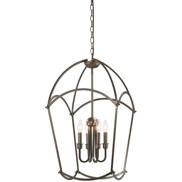 Maughan 4 - Light Lantern Geometric Chandelier By Gracie Oaks