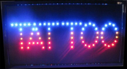Tattoo LED Sign Hanging Lamp by NeoPlex