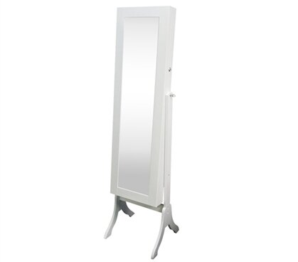 Atlasburg Free Standing Jewelry Armoire with Mirror by Winston Porter