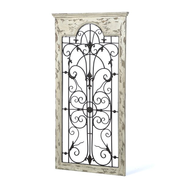 Completely new One Allium Way Gate White Wood and Metal Wall Décor & Reviews  QS69