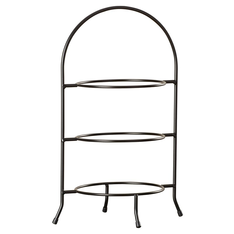 Hardin 3 Tier Dinner Plate Rack Tiered Stand  sc 1 st  Wayfair & Three Posts Hardin 3 Tier Dinner Plate Rack Tiered Stand \u0026 Reviews ...