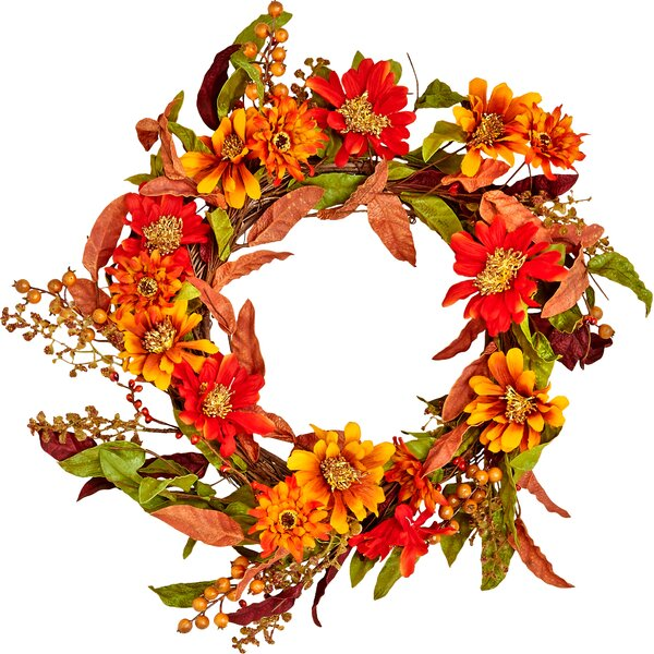 22 Fall Flowers/Berries and Leaves Wreath by Three Posts