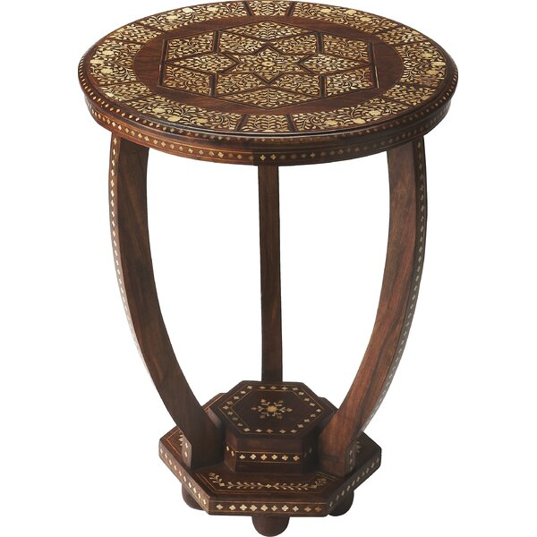 Ouitchambo Bone Inlay End Table by Bungalow Rose