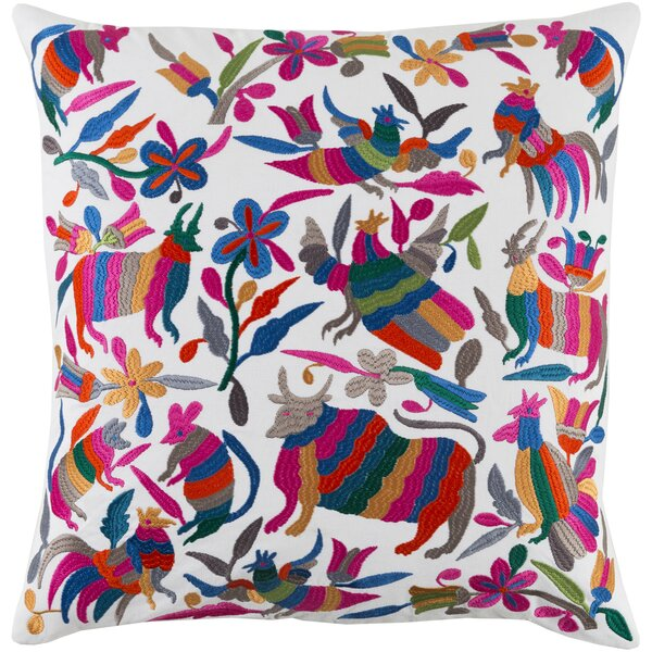 Safiya Cotton Throw Pillow by Bungalow Rose