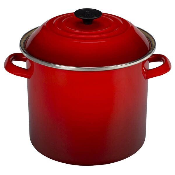 Enamel On Steel Stock Pot with Lid by Le Creuset