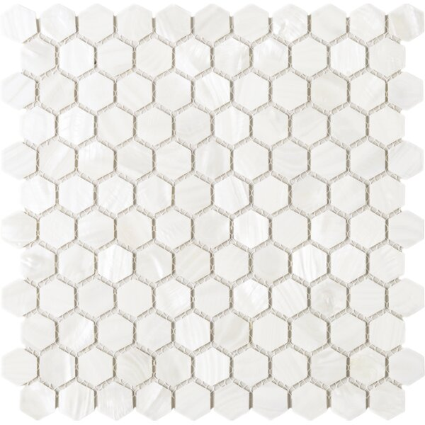 Mother of Pearl 1 x 1 Seashell Tile in Beige by Multile