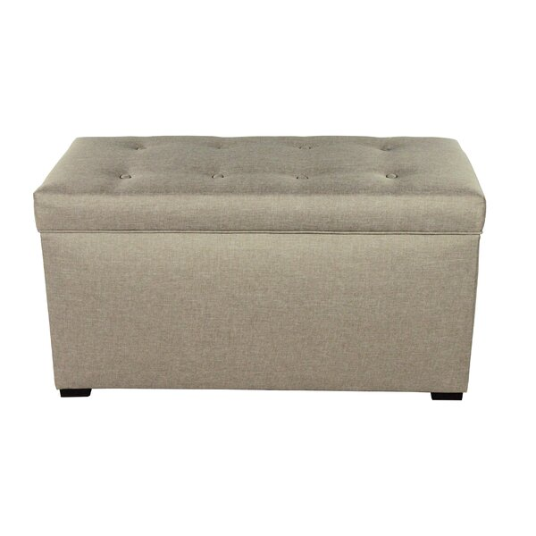 Woodside 8 Buttons Tufted Fabric Storage Bench by Alcott Hill