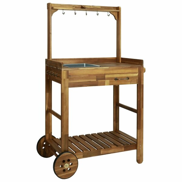 Ange Garden Kitchen Bar Cart By August Grove
