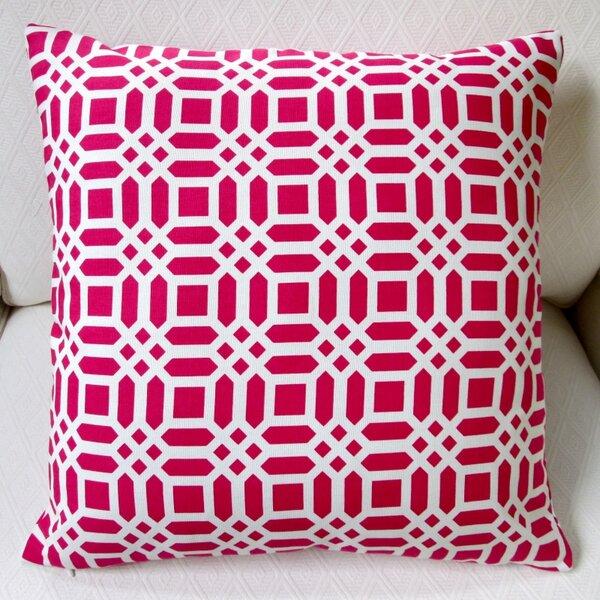 Vivid Lattice Indoor Cotton Throw Pillow by Artisan Pillows