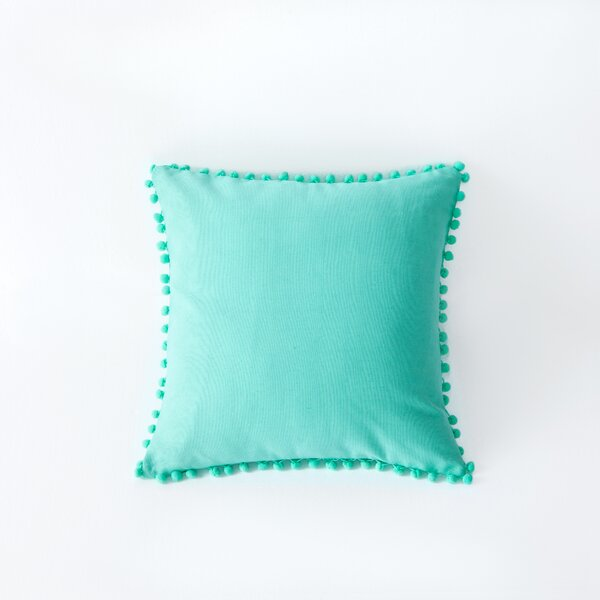 Terrence Pompom Decorative Throw Pillow by Viv + Rae