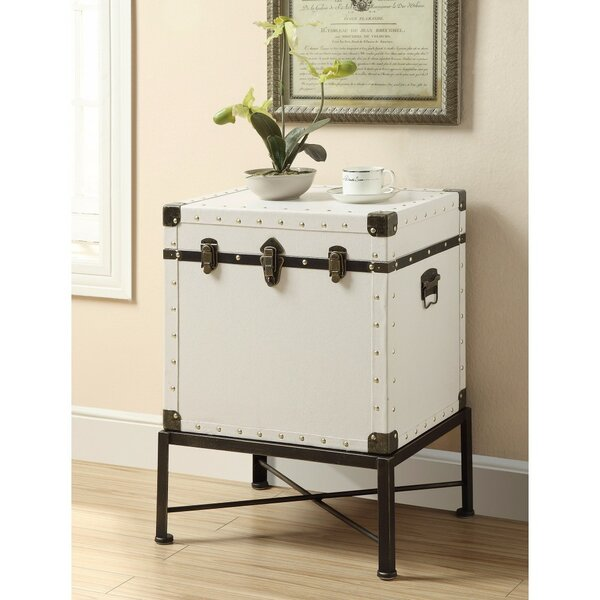 Evan Trunk Style Accent End Table by 17 Stories