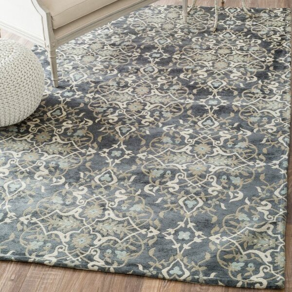 Delphinia Denim Area Rug by House of Hampton