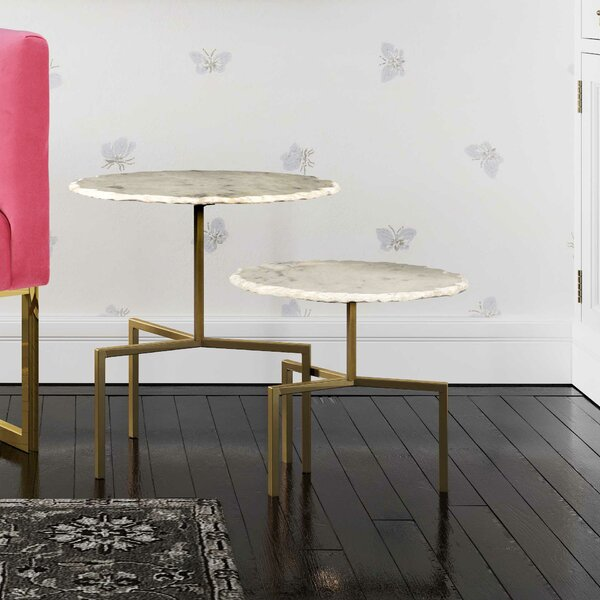 Bhavin 2 Piece Nesting Tables By Everly Quinn