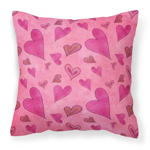Murphy Love and Hearts Outdoor Throw Pillow by Harriet Bee